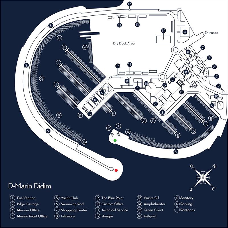 D-Marin Didim Yerleşim Planı